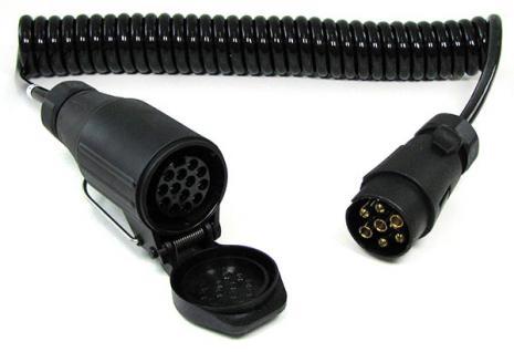 Spiralkabel Verlängerung Adapter 4 Meter 13 und 7 polig Auto Anhänger 12v - Vorschau 2