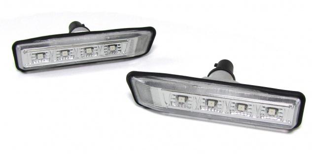 LED Klarglas Seitenblinker für BMW 3ER E36 ab 96 + BMW X5 E53 99-07