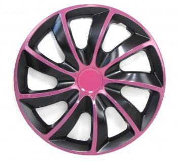** Radkappen Radzierblenden für Stahlfelgen Set Tenzo-R I 14 Zoll schwarz pink - Vorschau