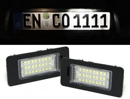 LED Kennzeichenbeleuchtung weiß 6000K für BMW 3ER E90 E91 E92 E93