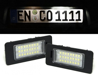 LED Kennzeichenbeleuchtung weiß 6000K für BMW X5 E70 X6 E71