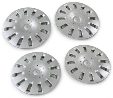 Radkappe silber für Stahlfelge 6Q0601027G 4 Stück für VW Polo 9N 01-07 Fox 05-11