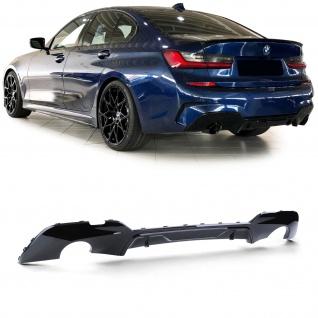 Heckdiffusor Sport Optik Schwarz glanz für BMW 3er G20 Limousine ab 18