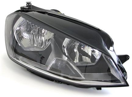 Scheinwerfer mit LWR Motor schwarz rechts für VW Golf 7 ab 12