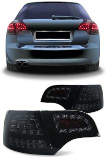LED Rückleuchten + LED Blinker schwarz für Audi A4 Avant Kombi B7 04-08
