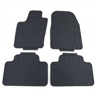 Premium Gummi Fußmatten Set 4-teilig Schwarz für Jeep Grand Cherokee WK ab 10