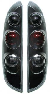 Klarglas Rückleuchten schwarz für Opel Corsa C 00-06