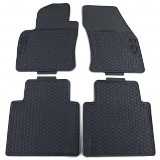 Premium Gummi Fußmatten Set 4-teilig Schwarz für VW Tiguan AD1 ab 16