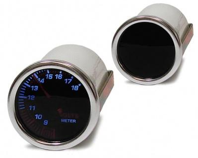 Volt Anzeige Voltmeter Zusatz Instrument 52mm black Magic