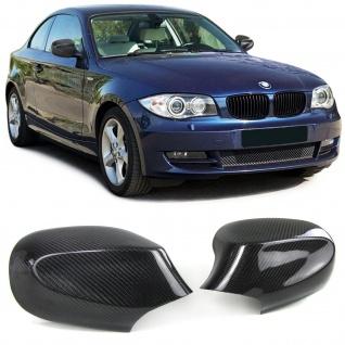 Echt Carbon Spiegelkappen Spiegelcover für BMW 1er E81 E82 E87 E88 09-13