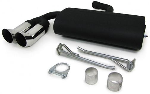 Sport Endschalldämpfer Auspuff 2 x 76 DTM für VW Golf 5 1K + Golf Plus 1KP 03-08