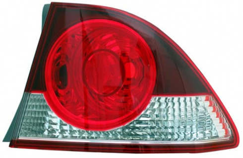 Rückleuchte Aussen rot klar rechts TYC für Honda Civic VIII Limousine FD 05-08