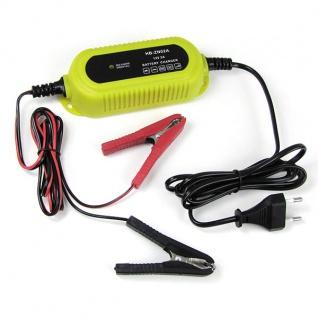 Batterieladegerät Batterieerhaltunsgerät 12 Volt Gelb für PKW Kfz Motorrad Boot - Vorschau 2