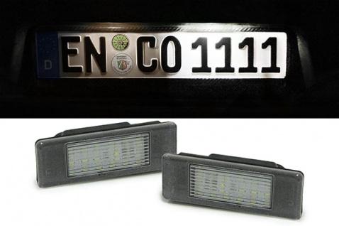 LED Kennzeichenbeleuchtung weiß 6000K für Citroen C3 C4 Peugeot 106 307 308 406