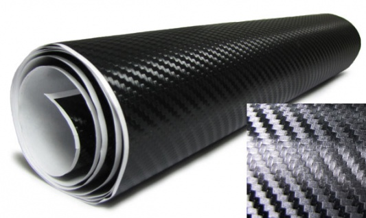 3D Carbonfolie schwarz selbstklebend 30cmx153cm