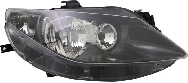 H7 / H7 Scheinwerfer schwarz rechts TYC für Seat Ibiza V 6J 08-12