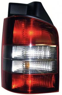 Rückleuchte rot schwarz links - Heckklappe für VW T5 Bus + Transporter 03-09