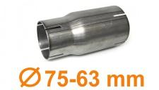 Edelstahl Auspuff Rohr Reduzierstück Verbindung Adapter 75mm auf 63mm