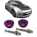 Alu Motorhauben Schnellverschluss Verriegelung Rennsport violett