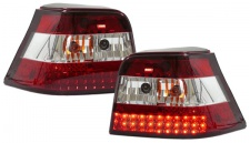 Klarglas LED Rückleuchten rot klar für VW Golf 4 Limousine 97-03