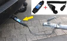 Auto Anhänger Stecker Prüfgerät Beleuchtungs Tester mit Adapter 7 auf 13 polig