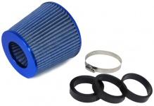 Performance Sport Luftfilter mit Adapter 60/65/70mm blau