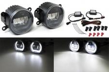 Klarglas LED Nebelscheinwerfer mit Tagfahrlicht für Dacia Duster Logan Sandero