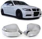 Aussen Spiegelkappen Abdeckungen Cover chrom für BMW 3ER E90 E91 Facelift ab 08