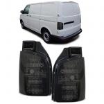 Klarglas LED Rückleuchten mit LED Blinker smoke schwarz für VW Bus T5 03-09