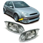 Klarglas Blinker Stoßstange chrom für Ford Focus 98-01