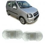 Seitenblinker weiß Paar für Suzuki Wagon R EM 98-00 mm 00- Opel Agila 00-07