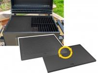 Grillplatte Wendeplatte Pizzaplatte Gusseisen für Gas Grill 41, 5cm x 31, 5cm