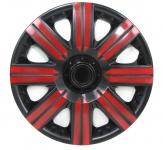 Radkappen Radzierblenden Bicolor Set Tenzo-R II 14 Zoll schwarz rot
