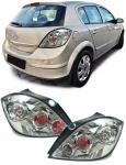 Klarglas LED Rückleuchten chrom für Opel Astra H ab 04 5 Türer