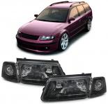 Scheinwerfer H4 H7 mit Nebel + Blinker schwarz für VW Passat 3B 96-00