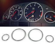TACHORINGE ABDECKUNGEN CHROM FÜR BMW X5 E53 99-07 5ER E39 95-03 7ER E38 99-07