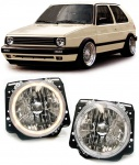 Klarglas Angel Eyes Scheinwerfer chrom für VW Golf 2 83-91