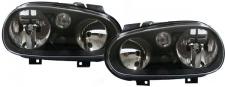 Schwarze Scheinwerfer ohne Nebel für VW Golf 4 97-03
