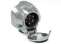 Auto Anhänger Adapter Stecker universal Alu 7 polig für 12v