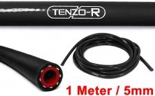 Tenzo-R Performance Silikon Schlauch verstärkt Länge 1M schwarz 5mm
