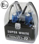 H4 XENON BLUE SUPER WHITE HID BIRNEN LAMPEN 55W 12V MIT E-ZEICHEN TENZO-R