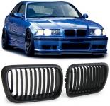 Sport Nieren Grill schwarz matt für BMW 3ER E36 96-99