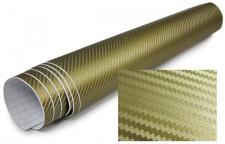 3D Carbon Folie selbstklebend 30cm *1.524 Meter gold