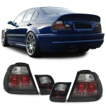 Klarglas Rückleuchten Kristall schwarz smoke für BMW 3ER E46 Limousine 98-01