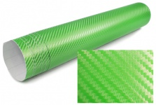 3D Carbon Folie selbstklebend 30cm *1.27 Meter grün