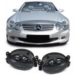 Klarglas Nebelscheinwerfer H11 schwarz smoke für Mercedes W204 W164 W463 W211