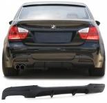 Heck Diffusor Einsatz Doppelrohr links Performance Look für BMW E90 Limousine