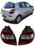 Klarglas Rückleuchten rot klar für Renault Clio III ab 05
