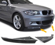 Carbon Front Flaps Spoiler für BMW 1ER E81 E87 07-10 mit Sport Stoßstange
