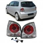 Facelift Rückleuchten chrom inkl Adapterkabel für VW Polo 9N 9N3 01-09